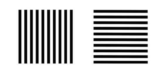 A base de rayas - Rayas horizontales ...