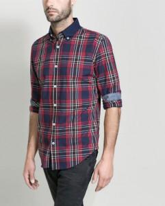 Camisa cuadros II Zara hombre