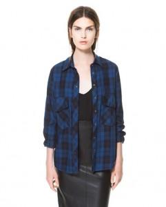 Camisa cuadros II Zara mujer