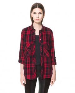 Camisa cuadros Zara mujer